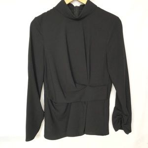 Zara Woman Long Sleeves Blouse Black S Pleated